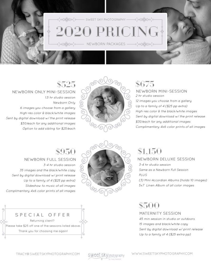 atlanta newborn photography pricing