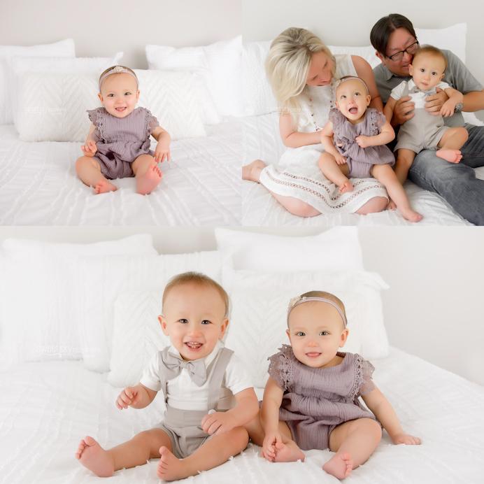 atlanta newborn baby photogtrapher white studio