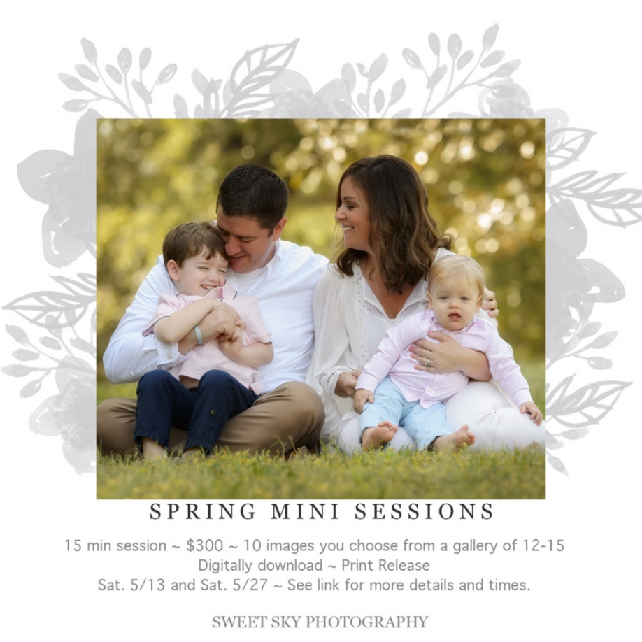 Atlanta Headshot Flower Swing Family Mini Session